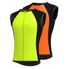 Wind stopper breathable high visibility cycling vest