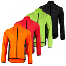 Shower proof water repellent reflective high visibility cycling jacket