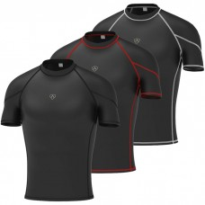 Men's compression armour base layer half sleeve