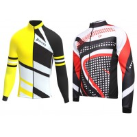 Men cycling long sleeve thermal jersey